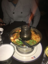 Tom Yum for starters at Jaiya.